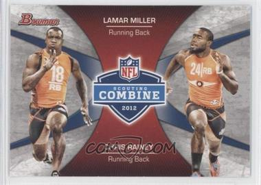 2012 Bowman Signatures Combine Competition #CC-MR - Lamar Miller, Chris Rainey