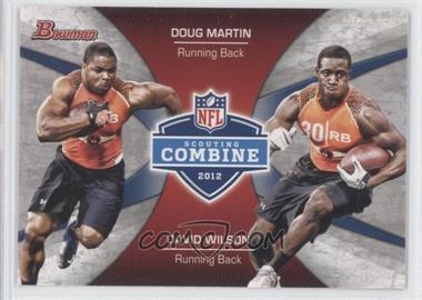 2012 Bowman Signatures Combine Competition #CC-MW - Doug Martin, David Wilson