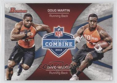 2012 Bowman Signatures Combine Competition #CC-MW - Doug Martin, David Wilson