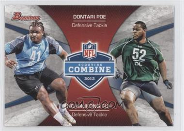 2012 Bowman Signatures Combine Competition #CC-PS - Dontari Poe, Ndamukong Suh