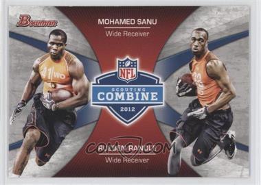 2012 Bowman Signatures Combine Competition #CC-SR - Mohamed Sanu, Rueben Randle