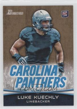 2012 Bowman Signatures Gold #190 - Luke Kuechly