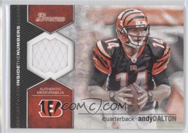 2012 Bowman Signatures Inside the Numbers Relics #ITNR-AD - Andy Dalton