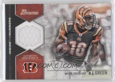 2012 Bowman Signatures Inside the Numbers Relics #ITNR-AG - A.J. Green
