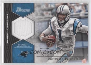 2012 Bowman Signatures Inside the Numbers Relics #ITNR-CN - Cam Newton