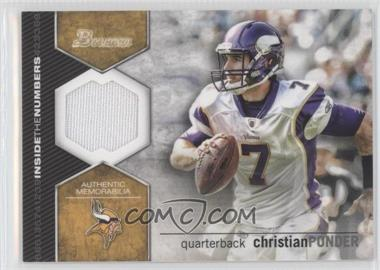 2012 Bowman Signatures Inside the Numbers Relics #ITNR-CP - Christian Ponder
