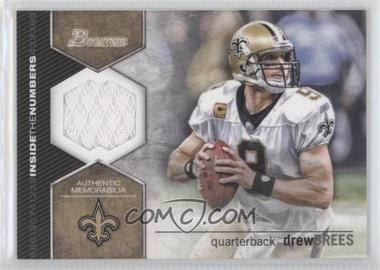2012 Bowman Signatures Inside the Numbers Relics #ITNR-DB - Drew Brees
