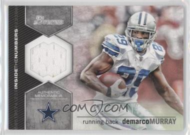 2012 Bowman Signatures Inside the Numbers Relics #ITNR-DM - DeMarco Murray