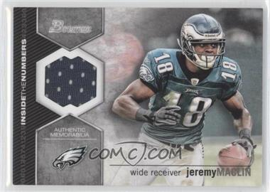 2012 Bowman Signatures Inside the Numbers Relics #ITNR-JM - Jeremy Maclin