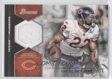 2012 Bowman Signatures Inside the Numbers Relics #ITNR-MF - Matt Forte