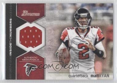 2012 Bowman Signatures Inside the Numbers Relics #ITNR-MR - Matt Ryan