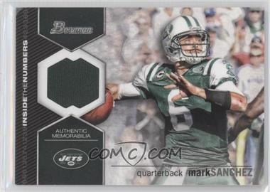 2012 Bowman Signatures Inside the Numbers Relics #ITNR-MS - Mark Sanchez
