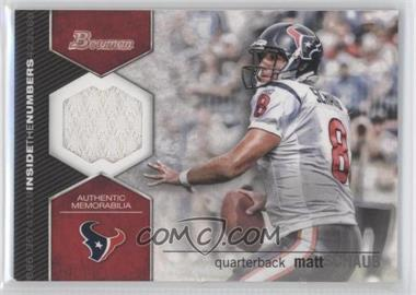 2012 Bowman Signatures Inside the Numbers Relics #ITNR-MSC - Matt Schaub