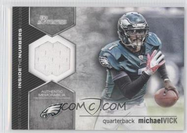 2012 Bowman Signatures Inside the Numbers Relics #ITNR-MV - Michael Vick