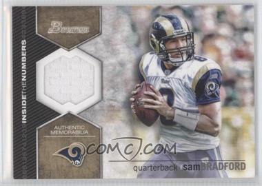 2012 Bowman Signatures Inside the Numbers Relics #ITNR-SB - Sam Bradford