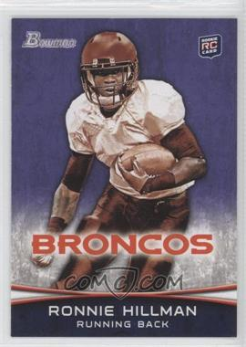 2012 Bowman Signatures Purple #112 - Ronnie Hillman