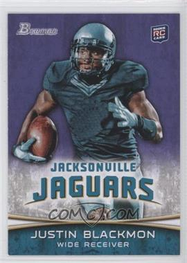 2012 Bowman Signatures Purple #130 - Justin Blackmon