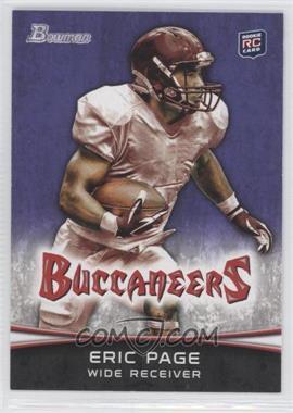 2012 Bowman Signatures Purple #141 - Eric Page