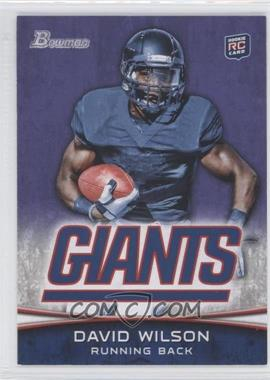 2012 Bowman Signatures Purple #153 - David Wilson