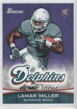 2012 Bowman Signatures Purple #174 - Lamar Miller