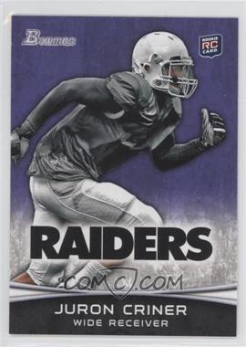 2012 Bowman Signatures Purple #183 - Juron Criner