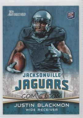 2012 Bowman Signatures #130.1 - Justin Blackmon (Ball in Right Hand/Green Jersey)