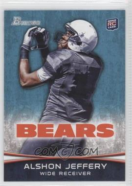 2012 Bowman Signatures #137.2 - Alshon Jeffery (Facing Back - Looking For Ball)