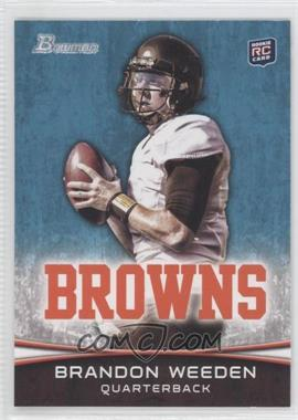 2012 Bowman Signatures #161.2 - Brandon Weeden (White Jersey)
