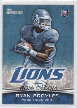 2012 Bowman Signatures #197.1 - Ryan Broyles (Both Hands on Ball)