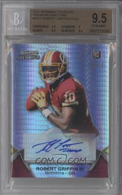 2012 Bowman Sterling - Autograph - Prism Refractor #1 - Robert Griffin III /15 [BGS9.5]