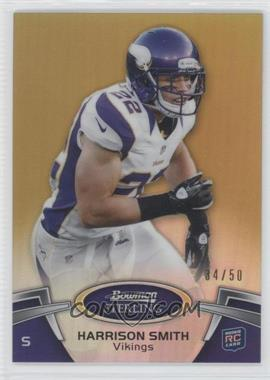 2012 Bowman Sterling - [Base] - Gold Refractor #77 - Harrison Smith /50