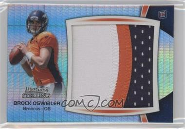 2012 Bowman Sterling - Jumbo Rookie Patch Box Topper - Prism Refractor #BSJRP-BO - Brock Osweiler /5