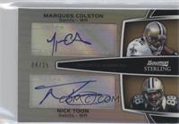 Marques Colston, Nick Toon /25