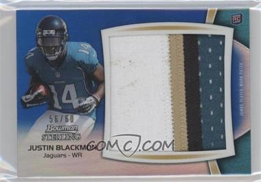 2012 Bowman Sterling Jumbo Rookie Patch Box Topper Blue Refractor #BSJRP-JB - Justin Blackmon /60