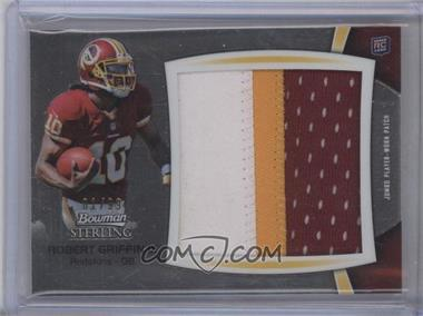 2012 Bowman Sterling Jumbo Rookie Patch Box Topper #BSJRP-RG - Robert Griffin III /99
