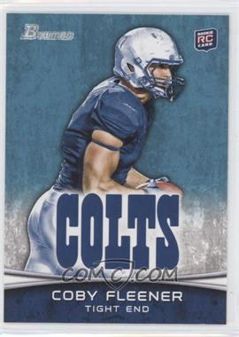 2012 Bowman #113.2 - Coby Fleener (Horizontal Football)