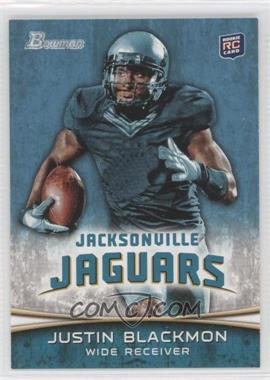 2012 Bowman #130.1 - Justin Blackmon (Ball in Right Hand/Green Jersey)