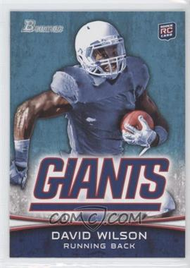 2012 Bowman #153.2 - David Wilson (Ball in Left Hand)