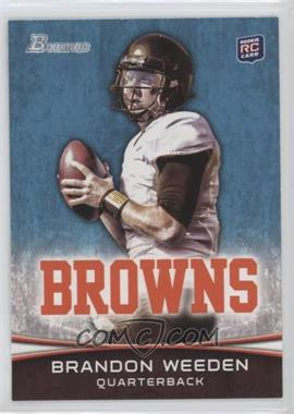 2012 Bowman #161.2 - Brandon Weeden (White Jersey)