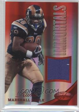 2012 Certified Materials Mirror Red #226 - Marshall Faulk /199