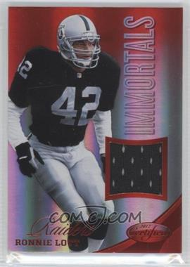 2012 Certified Materials Mirror Red #231 - Ronnie Lott /199