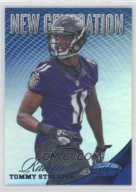 2012 Certified Mirror Blue #308 - Tommy Streeter /100