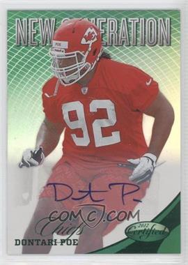 2012 Certified Mirror Emerald Signatures [Autographed] #269 - Dontari Poe /5