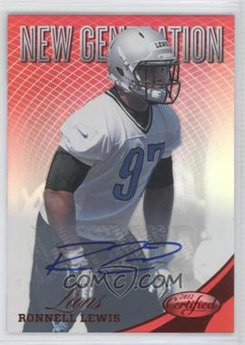 2012 Certified Mirror Red Signatures [Autographed] #301 - Ronnell Lewis /350