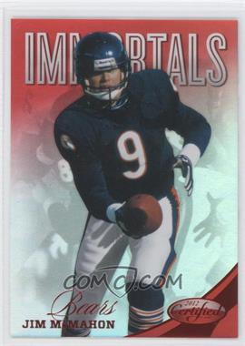 2012 Certified Mirror Red #186 - Jim McMahon /250