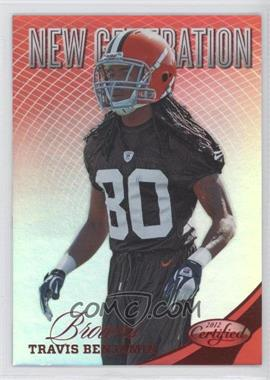 2012 Certified Mirror Red #309 - Travis Benjamin /250