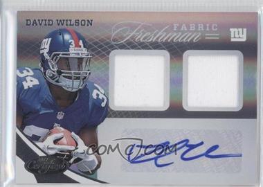 2012 Certified #326 - David Wilson /499