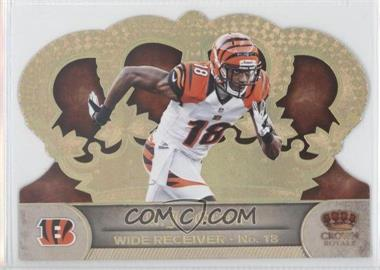 2012 Crown Royale - [Base] - Gold Holo-Foil #12 - A.J. Green /99