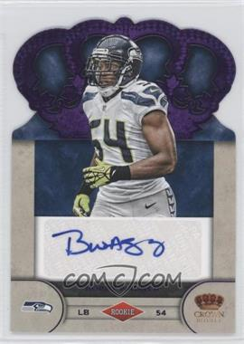2012 Crown Royale Rookie Signatures Purple #7 - Bobby Wagner /25