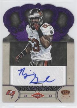 2012 Crown Royale Rookie Signatures Purple #72 - Najee Goode /25